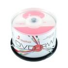 Диск DVD-RW SmartTrack, 4x, 4,7 Гб, Cake Box, 50 шт
