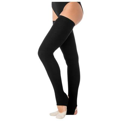 Гетры для танцев №5 без носка и пятки, 30 см, цвет чёрный