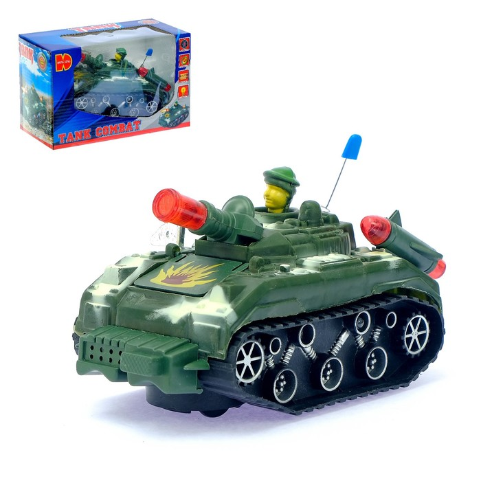 Танк «Атака», световые и звуковые эффекты, работает от батареек, МИКС - фото 105649320