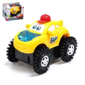 Машина-перевёртыш «Безумный гонщик», работает от батареек, световые эффекты, цвета МИКС Ош