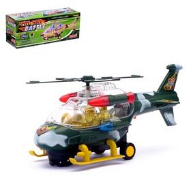 Вертолет «Воздушный бой», работает от батареек, световые и звуковые эффекты, цвета МИКС