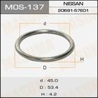 Кольцо глушителя металлическое  Masuma MOS137