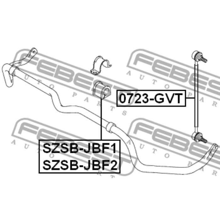 Тяга стабилизатора передняя febest 0723-gvt