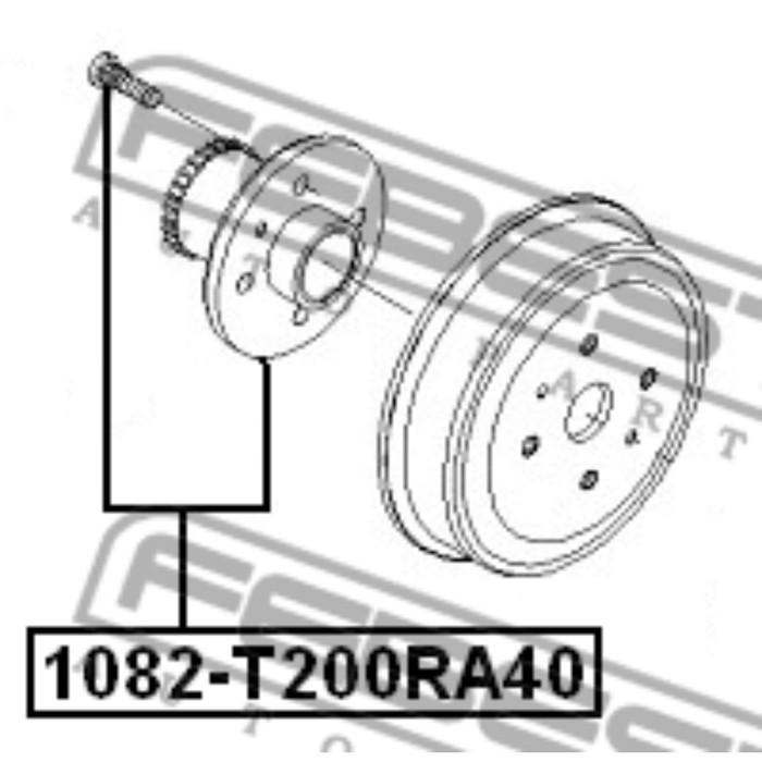Ступица задняя febest 1082-t200ra40