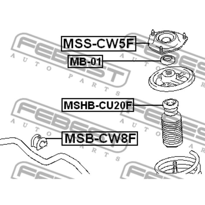 Опора переднего амортизатора febest mss-cw5f