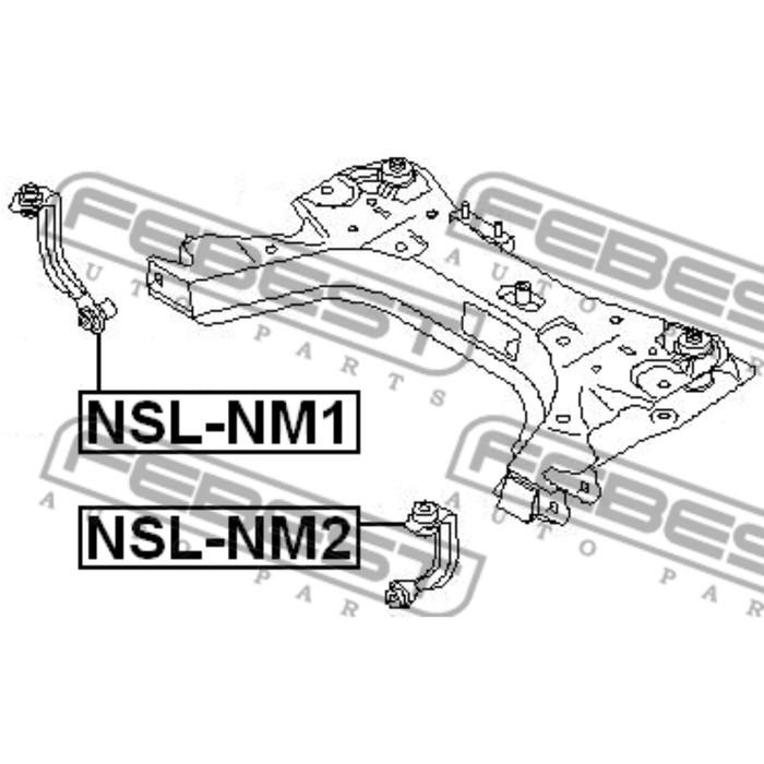 Тяга стабилизатора передняя правая febest nsl-nm1