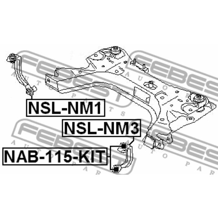 Тяга стабилизатора передняя левая febest nsl-nm3