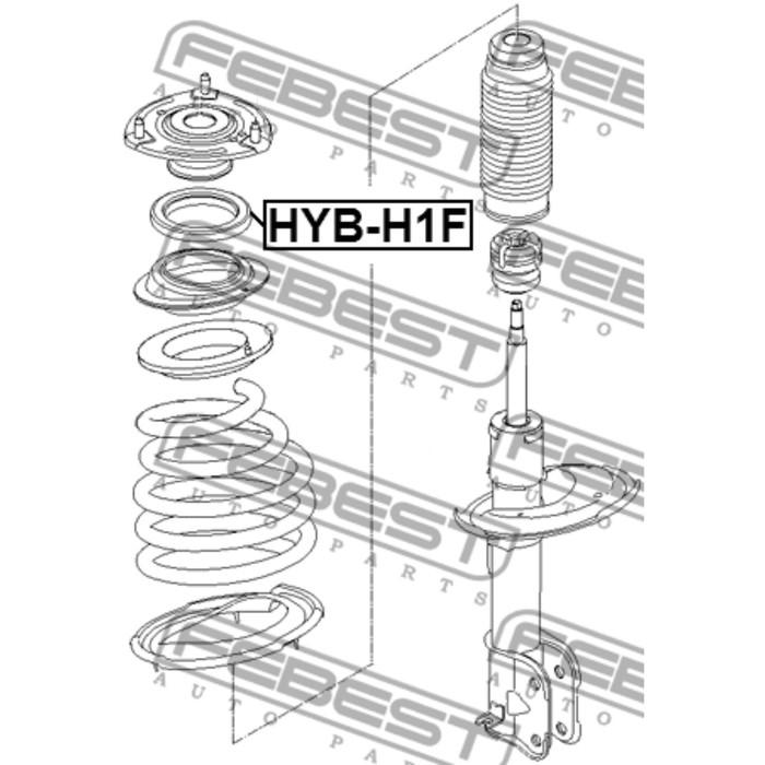 Подшипник опоры амортизатора FEBEST hyb-h1f