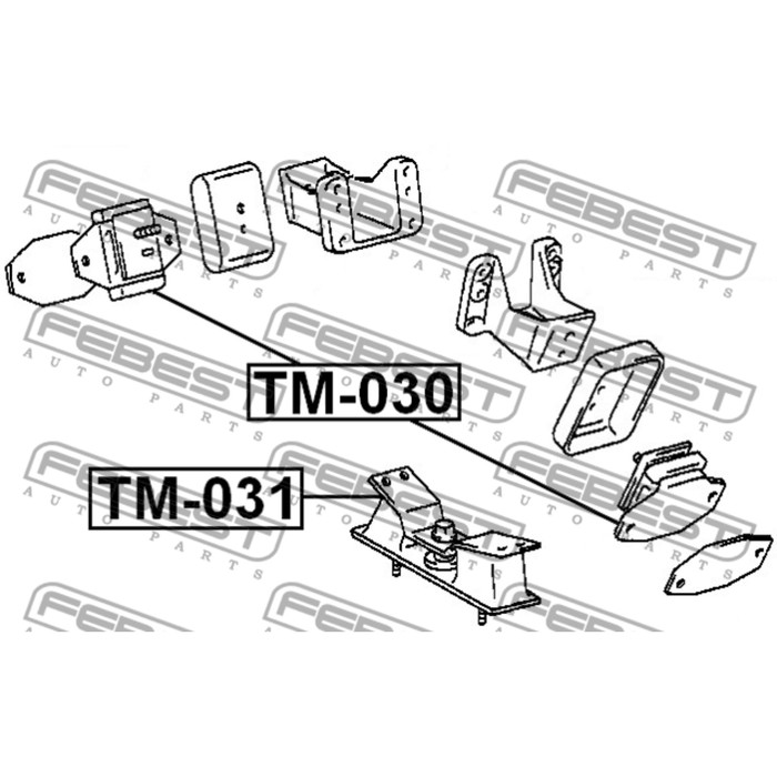 Подушка двигателя передняя 2uzfe/1hdfte febest tm-031