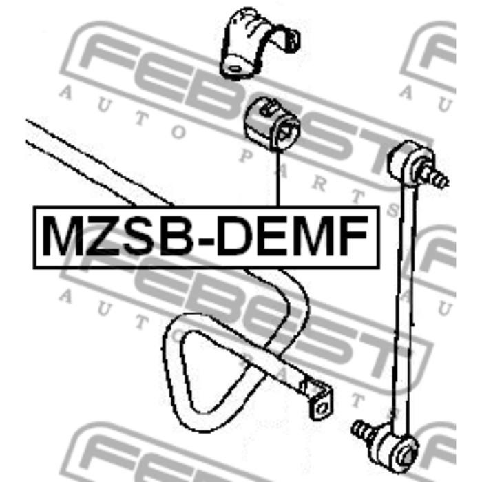 Втулка переднего стабилизатора d17 febest mzsb-demf