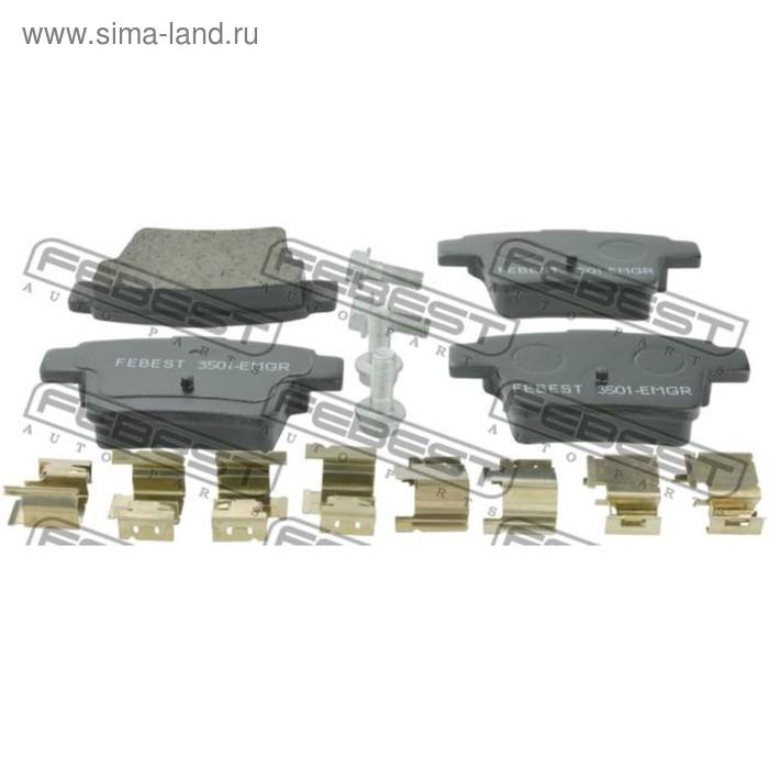 Колодки тормозные задние комплект febest 3501-emgr