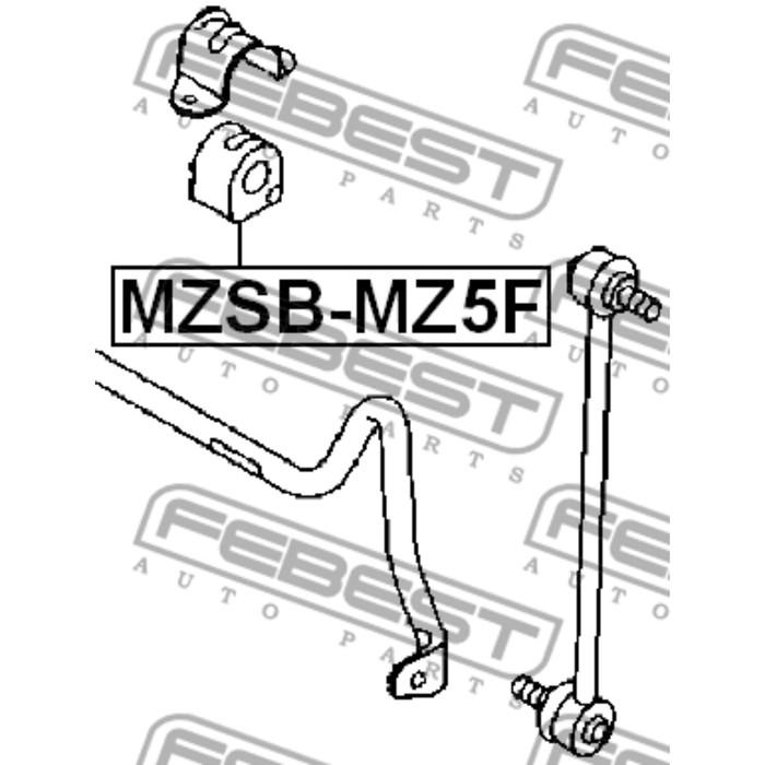 Втулка переднего стабилизатора d29 febest mzsb-mz5f