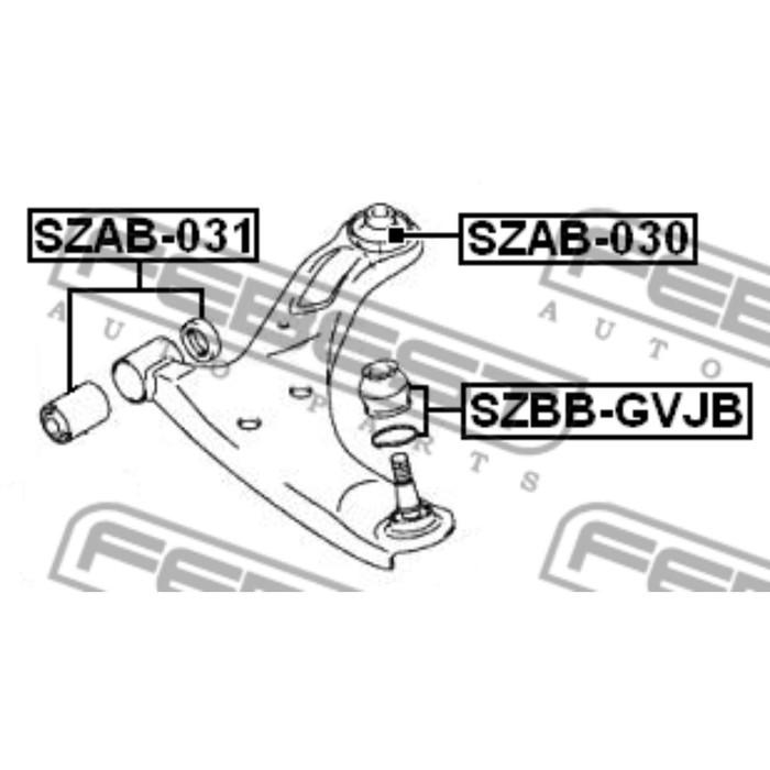 Сайлентблок задний переднего рычага febest szab-030