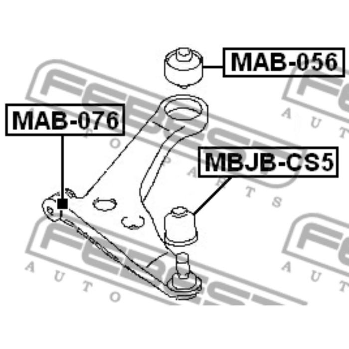 Сайлентблок переднего рычага febest mab-056