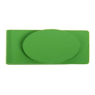 Зажим для денег металл Овал зеленый