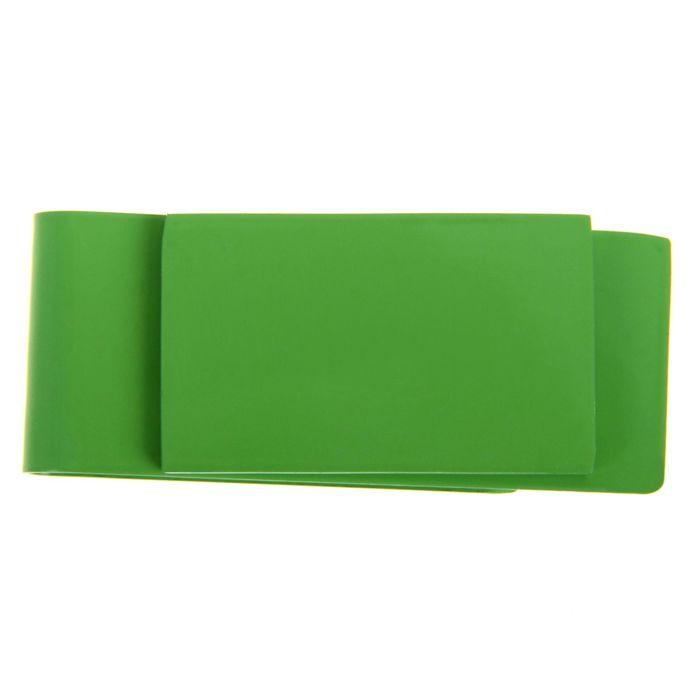 Зажим для денег, металлический, прямоугольный, зелёный