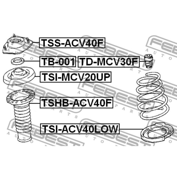 Пыльник амортизатора FEBEST tshb-acv40f