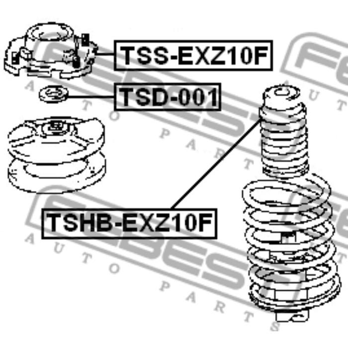 Пыльник переднего амортизатора febest tshb-exz10f