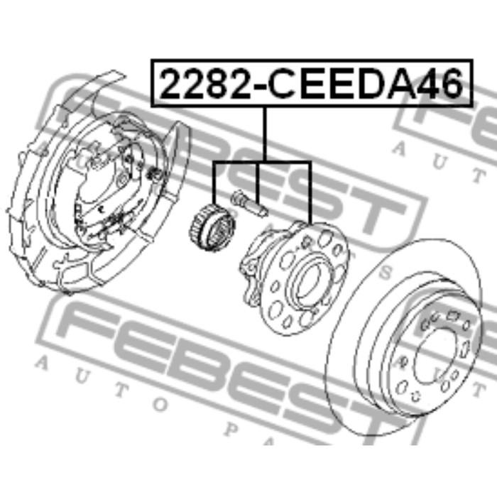 Ступица задняя febest 2282-ceeda46