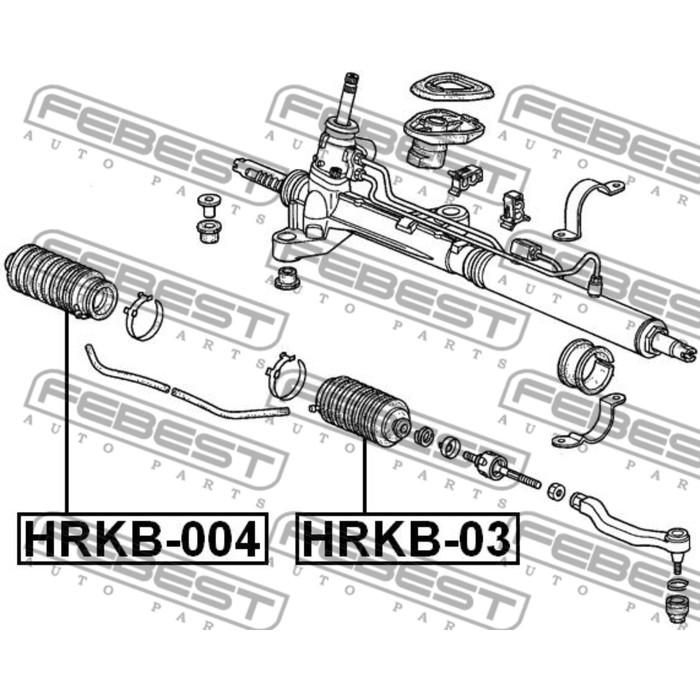 Пыльник рулевой рейки правый febest hrkb-004