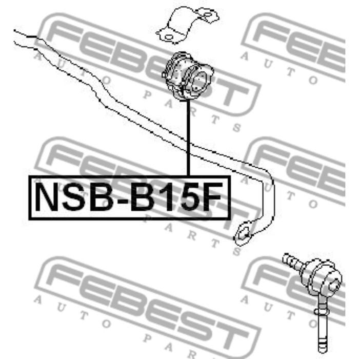 Втулка переднего стабилизатора d20 febest nsb-b15f