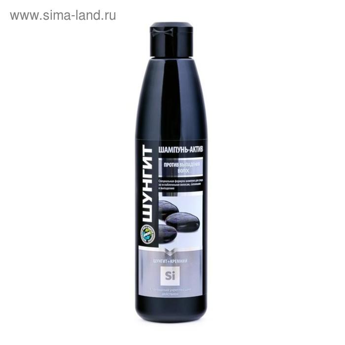 Шампунь-актив Fratty «Шунгит+Кремний», против выпадения волос, 330 мл