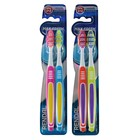 Зубная щётка Rendall 3 effect, средней жесткости, 2 шт. МИКС