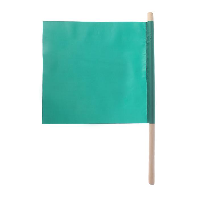 Флажок судейский 30*30см, цвет зелёный L-50см