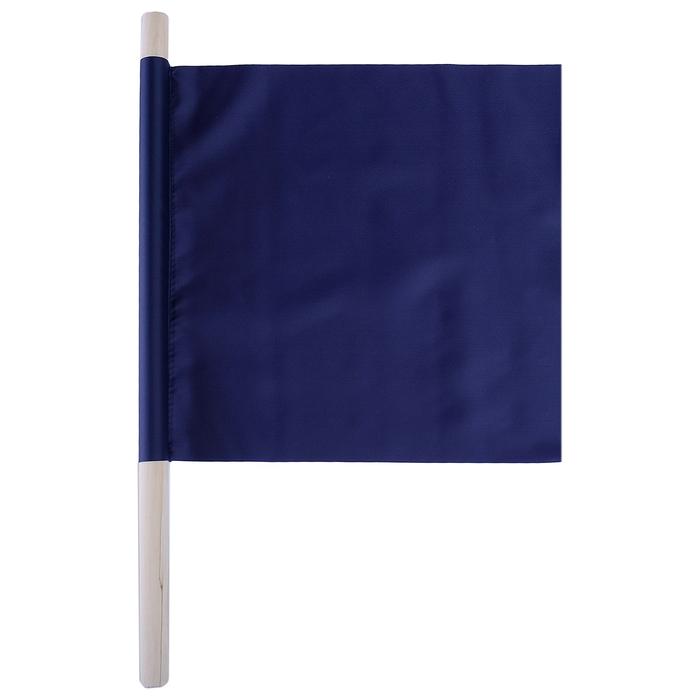 Флажок судейский 30*30см, цвет синий, L-50см