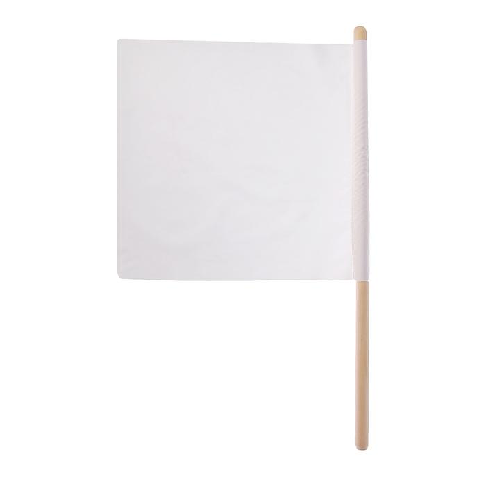 Флажок судейский 36*36 см, цвет белый, L-62 см