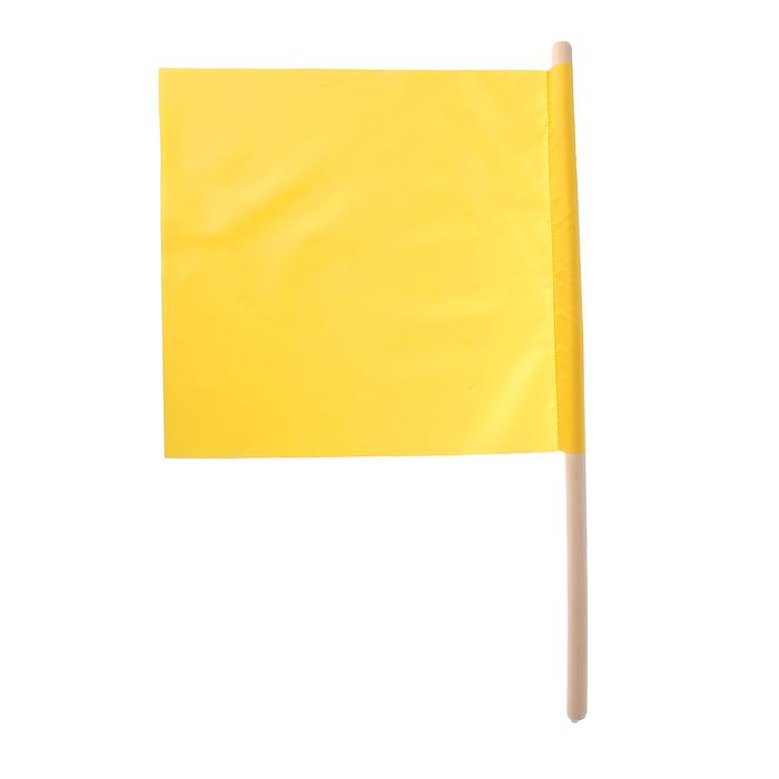 Флажок судейский 36*36см, цвет жёлтый, L-62см