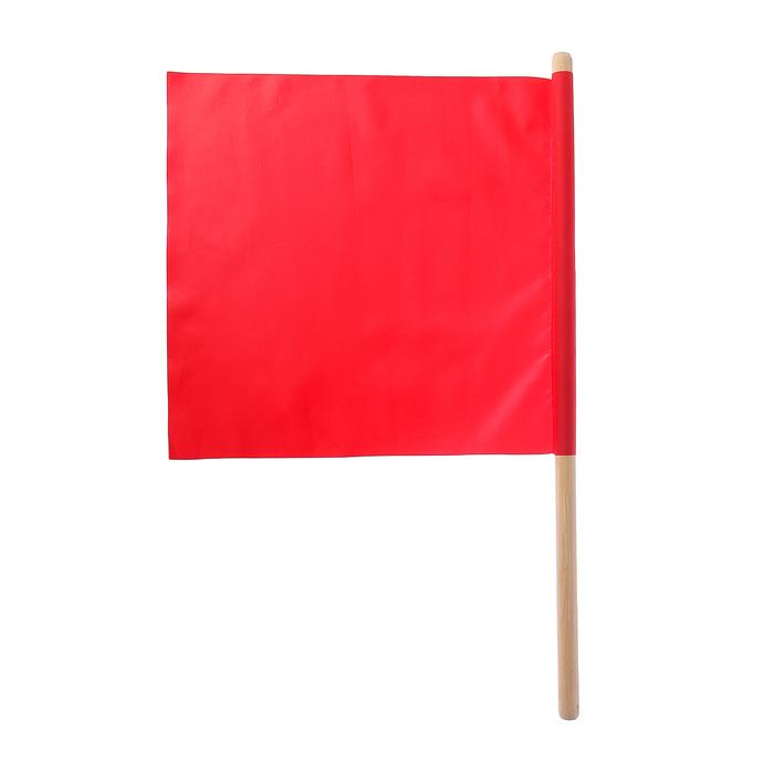 Флажок судейский 36*36 см, цвет красный, L-62 см