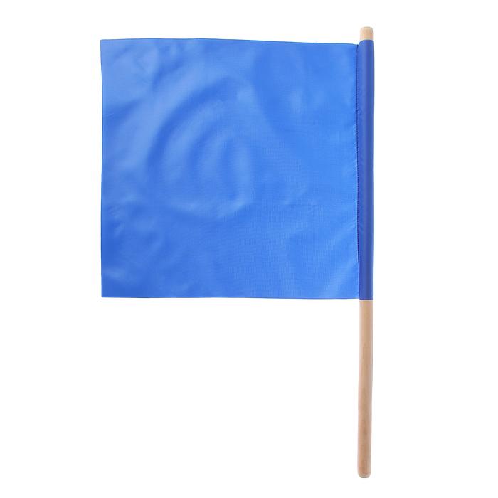 Флажок судейский 36*36см, цвет синий, L-62см