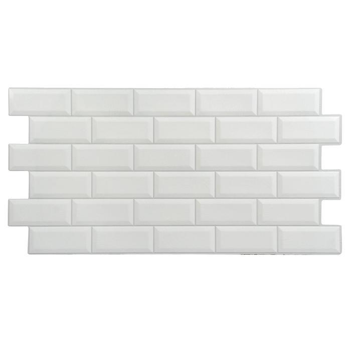 Панель ПВХ плитка Кабанчики белая 485х960