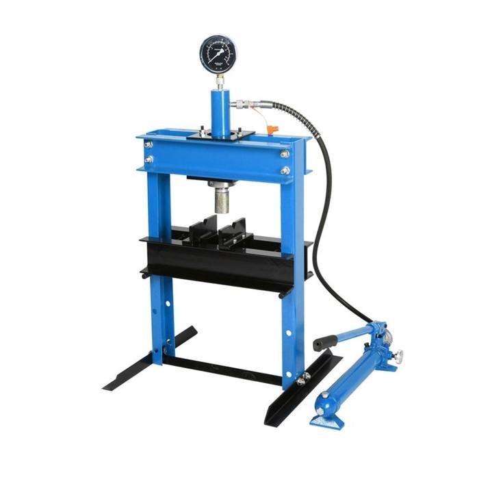 Пресс гидравлический KingTul profi KT-0500-1, 12т, с манометром и выносным насосом, 358 мм