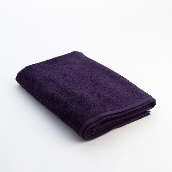 Полотенце махровое «Экономь и Я», размер 70х130 см, цвет фиолетовый
