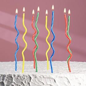 """Свечи восковые для торта """"Спиральки"""" (набор 8 шт)"""