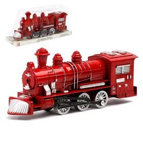 Поезд инерционный «Паровоз», цвета МИКС