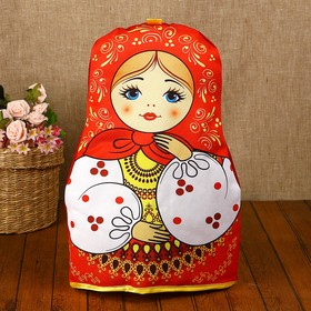 Грелка на чайник «Матрёшка», красный платок