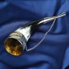 """Сувенирный рог для вина """"Махачкала"""" ручная работа, 20 см"""