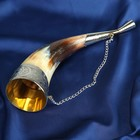 """Сувенирный рог для вина """"Кизляр"""" ручная работа, 20 см"""