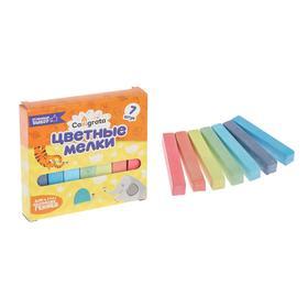 Мелки цветные «Пегас», в наборе 7 штук, квадратные Ош