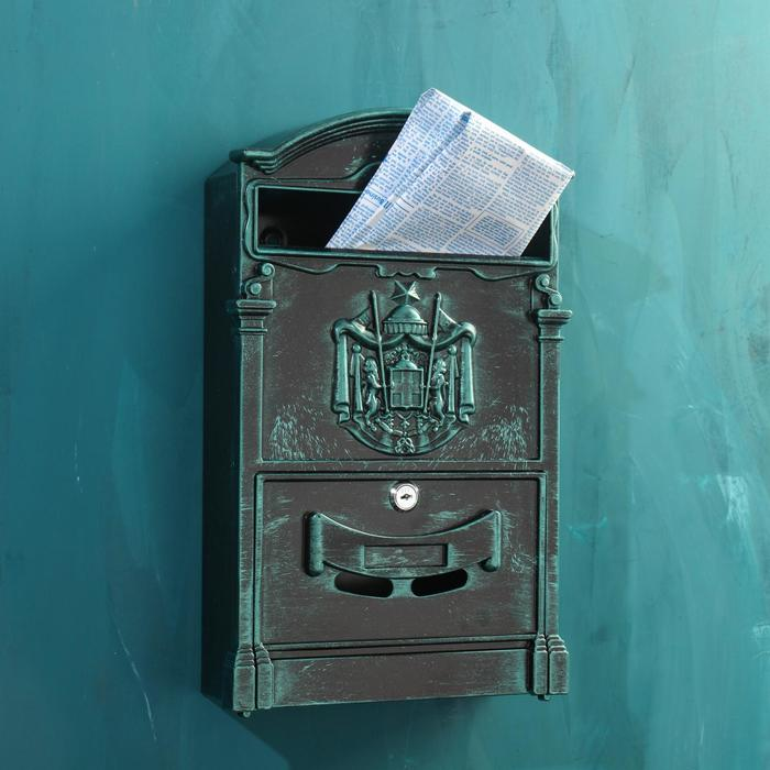 Ящик почтовый №4010В, зелёная патина