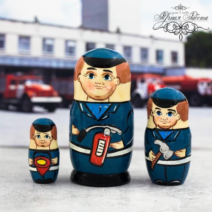 """Матрешка 3 кукольная """"МЧС"""", 11 см"""