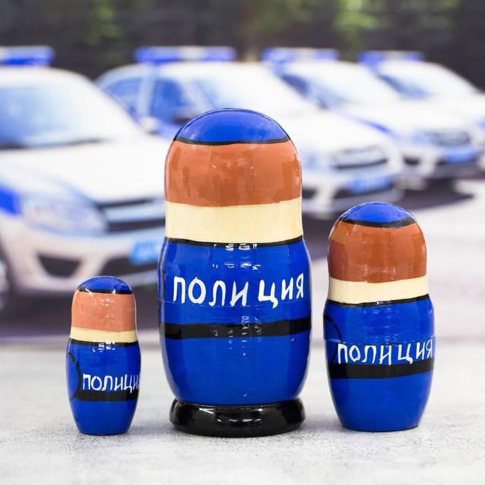Матрёшка 3-х кукольная «Полиция», 11 см