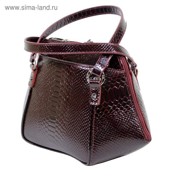 5137568a8f65 Сумка женская, 3 отделения на молнии, наружный карман, цвет бордовый. prev