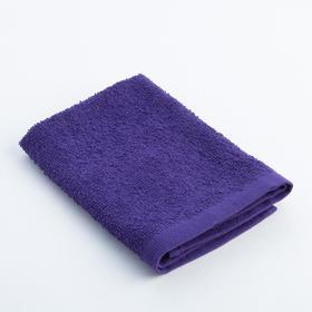 Полотенце махровое 'Экономь и Я' 30х30 см фиолетовый 100% хлопок, 340 г/м2 Ош
