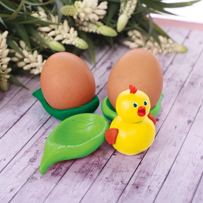 """Подставка для яиц из массы для лепки """"Цыплёнок"""""""