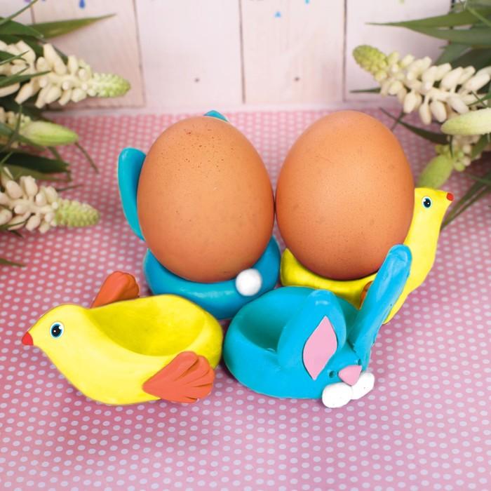 """Подставки для яиц из массы для лепки """"Кролик"""""""