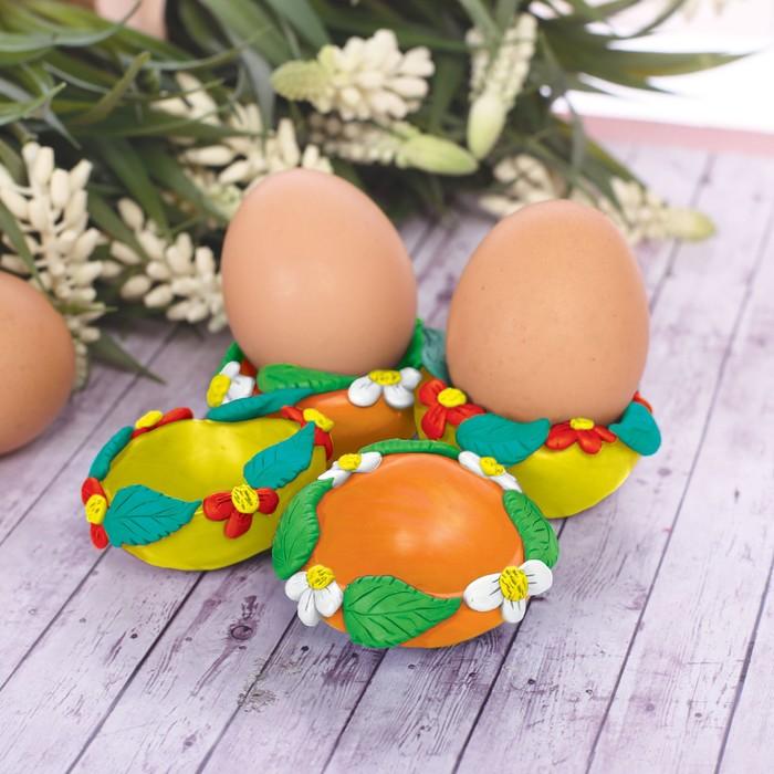 """Подставки для яиц из массы для лепки """"С Пасхой!"""""""